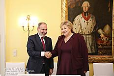 Նիկոլ Փաշինյանը հանդիպումներ է ունեցել Նորվեգիայի վարչապետի և Լիբանանի փոխվարչապետի հետ