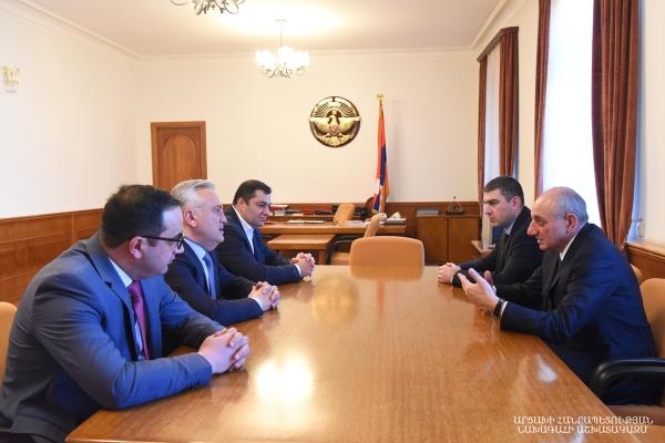 Հանդիպում ՀՀ Կենտրոնական բանկի նախագահ Արթուր Ջավադյանի հետ