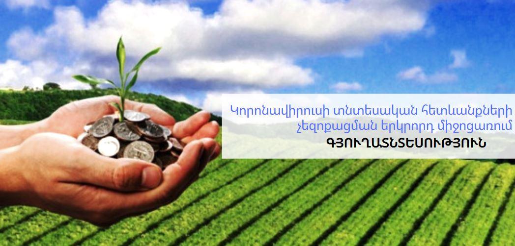 Մշակվել է կորոնավիրուսի տնտեսական հետևանքների չեզոքացման երկրորդ միջոցառումը գյուղատնտսության ոլորտի համար