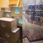 Սննդի, հիգիենայի պարագաների և այլ անհրաժեշտ իրեր փաթեթներ՝ 900 ընտանիքների՝ ԱՍՀՆ-ն և «Հայ առաջադեմ երիտասարդություն» ՀԿ համագործակցության շրջանակում