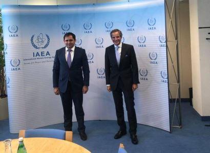Նախարար Սուրեն Պապիկյանը հանդիպել է ԱԷՄԳ գլխավոր տնօրեն Ռաֆայել Մարիանո Գրոսսիի հետ