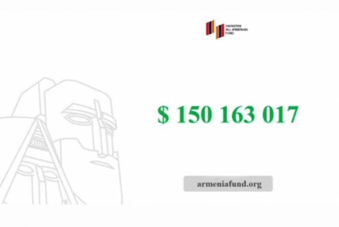 «Հայաստան» համահայկական հիմնադրամին նվիրատվությունը հատել է 150 մլն դոլարի շեմը