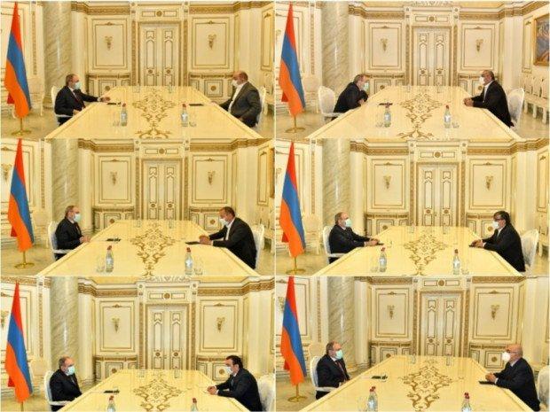 Փաշինյանը հանդիպել է գործարարների հետ, այդ թվում Խաչատուր Սուքիասյանի, Սամվել Ալեքսանյանի, «Սպայկայի» ղեկավարի հետ