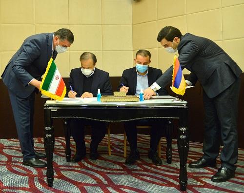 ՀՀ էկոնոմիկայի և ԻԻՀ արդյունաբերության, հանքերի և առևտրի նախարարները Իրանում ստորագրել են հուշագիր