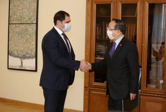 Սուրեն Պապիկյանը կարևորել է «Հյուսիս-հարավ»-ի շրջանակներում հայ-չինական համագործակցության ընդլայնումը
